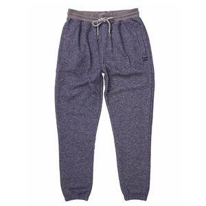 Billabong Navy Blue Fleece Drawstring Sweatpants